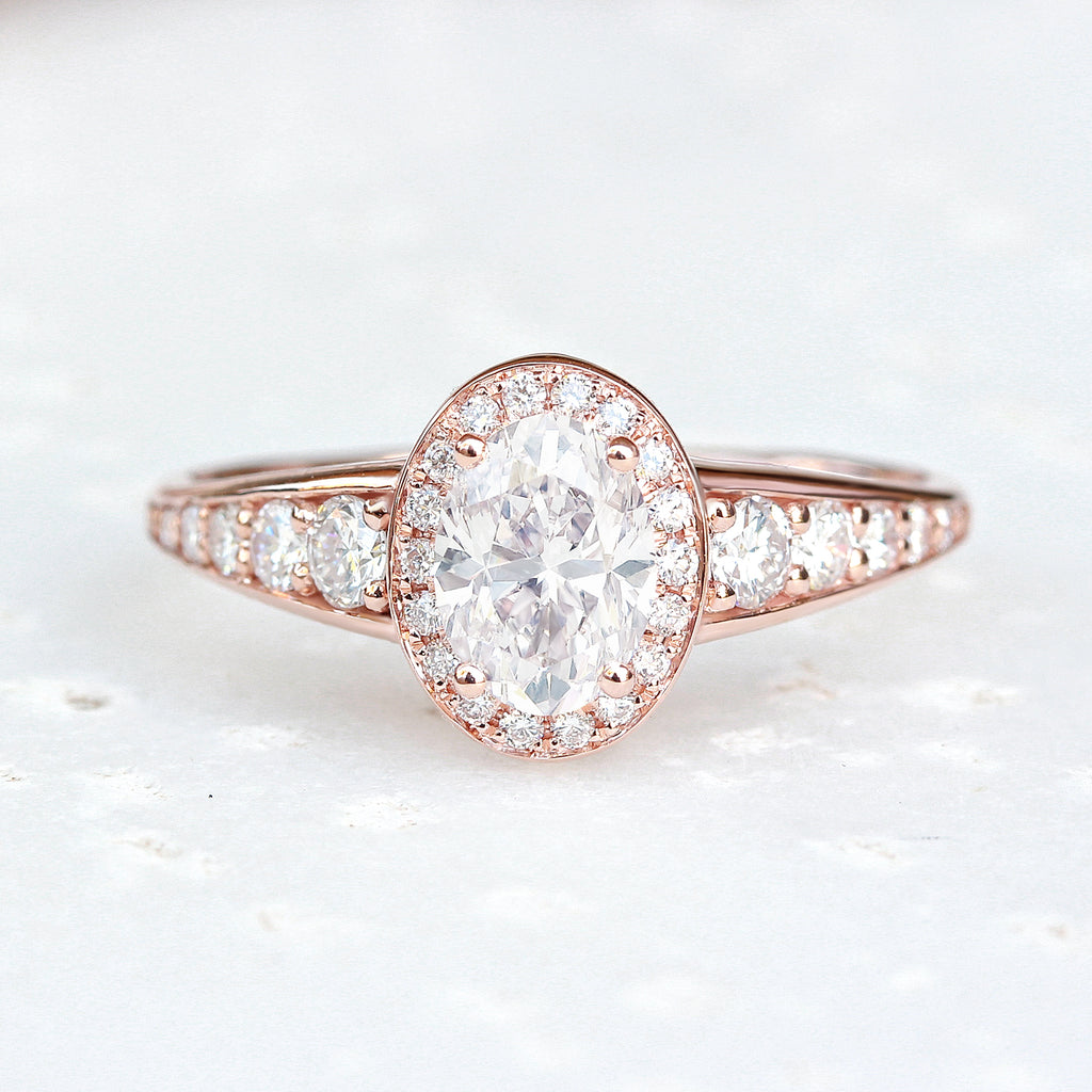 Oval Diamond 0.98ct Vintage Engagement Ring, Donna - sillyshinydiamonds