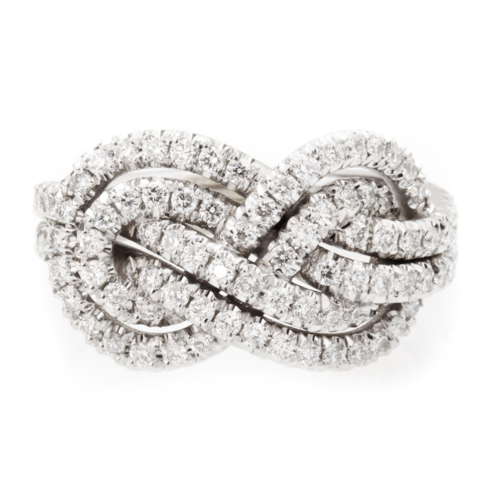 Private Listing for Charnell -Double infinity knot diamond ring, 14K white gold, size 6.25 - sillyshinydiamonds