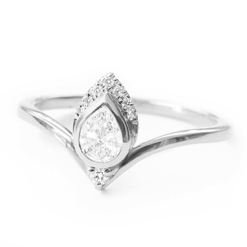 Pear 0.3ct Diamond Engagement Ring, Atyasha