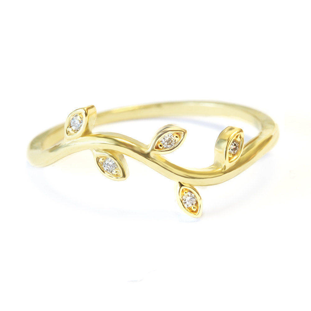 Mini Twig Dainty Diamond Wedding Ring