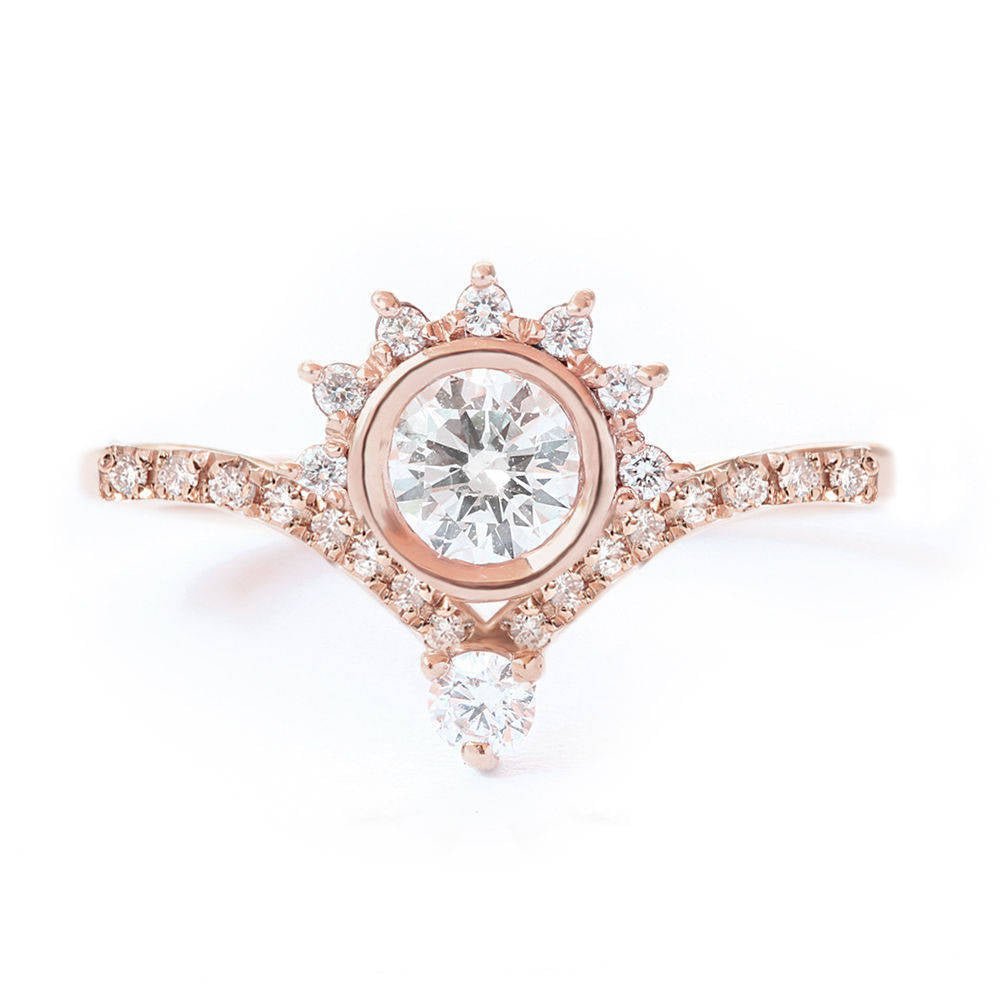 Valentia Eternity Crown 0.45ct, Unique Diamond Engagement ring