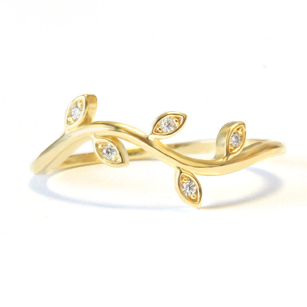 Mini Twig Dainty Diamond Wedding Ring - sillyshinydiamonds