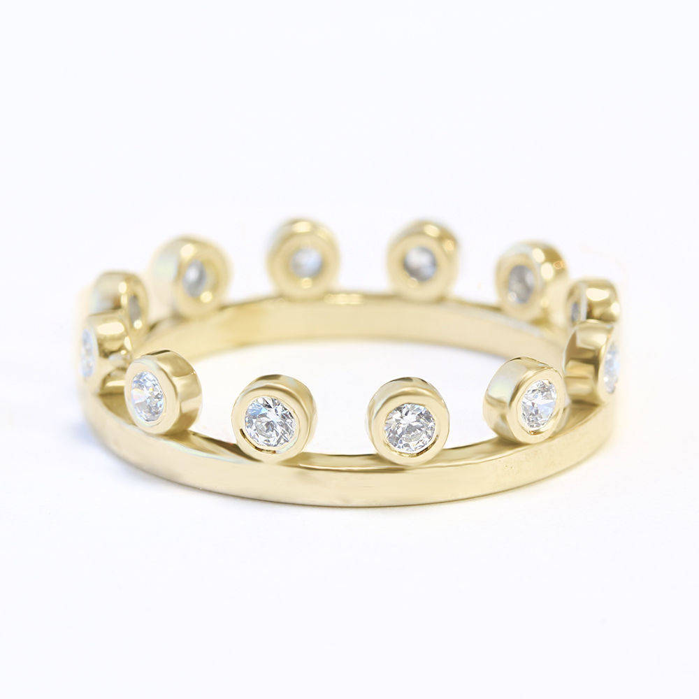 Diamond Tiara Ring - sillyshinydiamonds