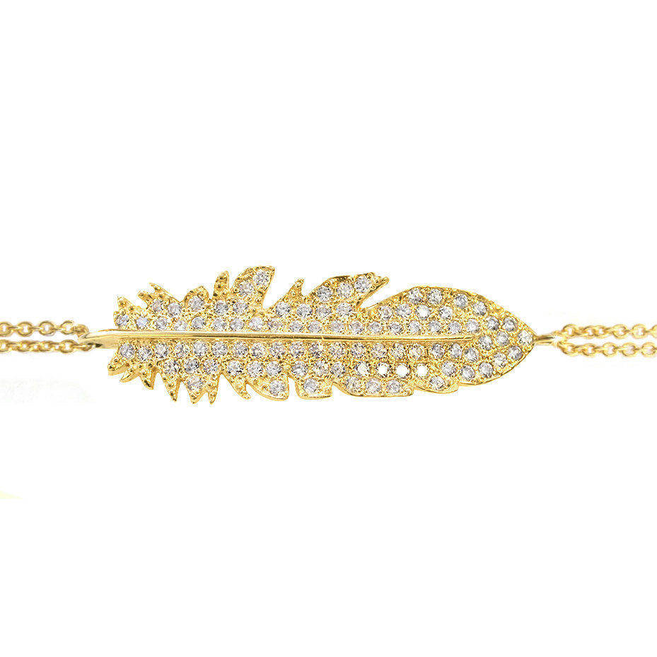 Feather Diamond Bracelet - sillyshinydiamonds