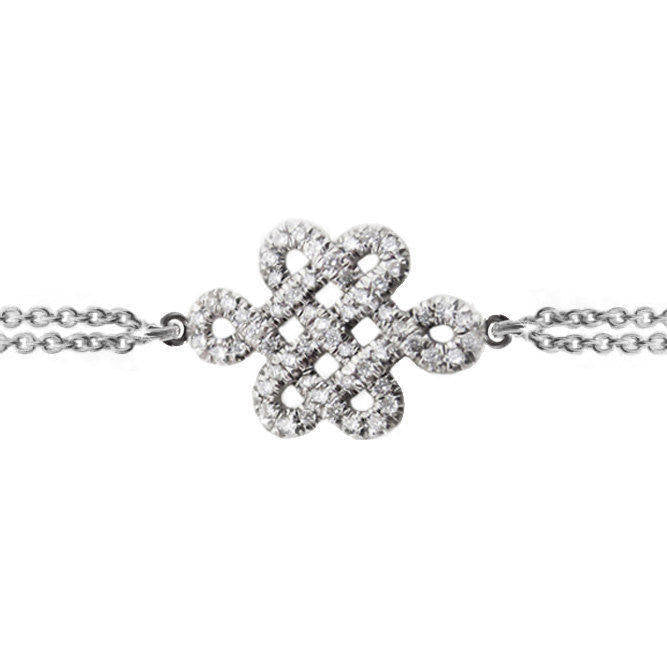 Endless Love Knot Diamond Bracelet - sillyshinydiamonds