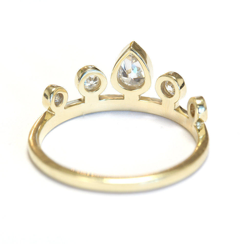 Tiara Pear Diamond Stacking Ring Set - sillyshinydiamonds