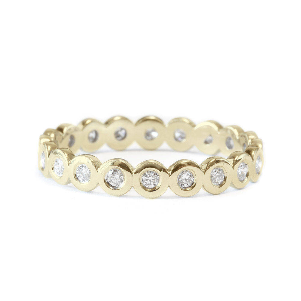 Bubbles Bezel Full Eternity Wedding Ring