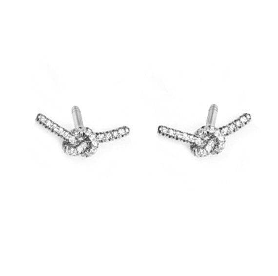 Love Knot Diamond Stud Earrings - sillyshinydiamonds