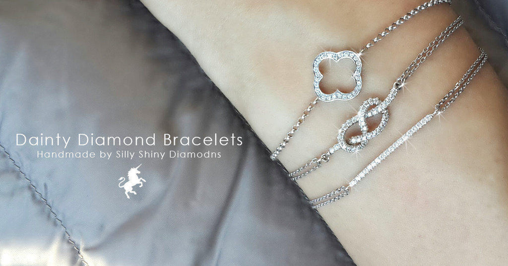 Minimal Diamond Bar Bracelet - sillyshinydiamonds