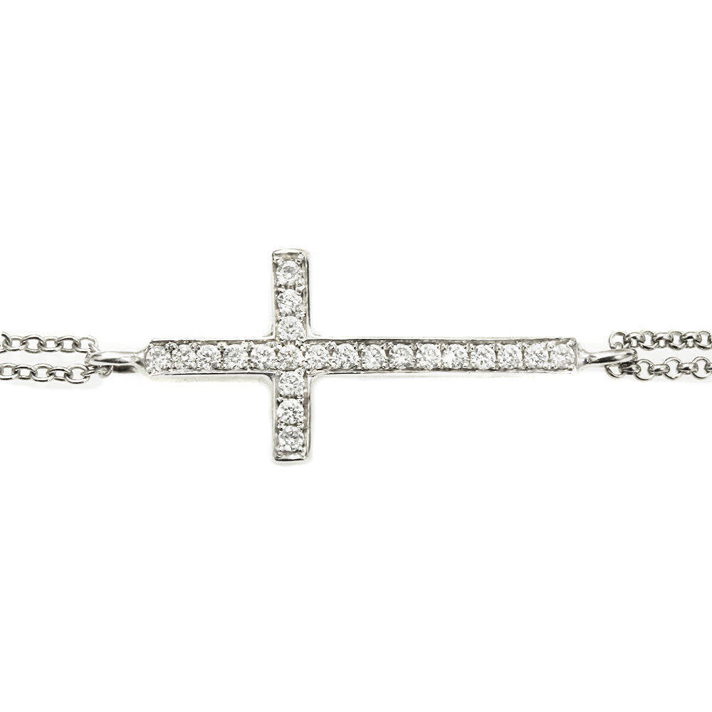 Dainty Cross Diamond Bracelet