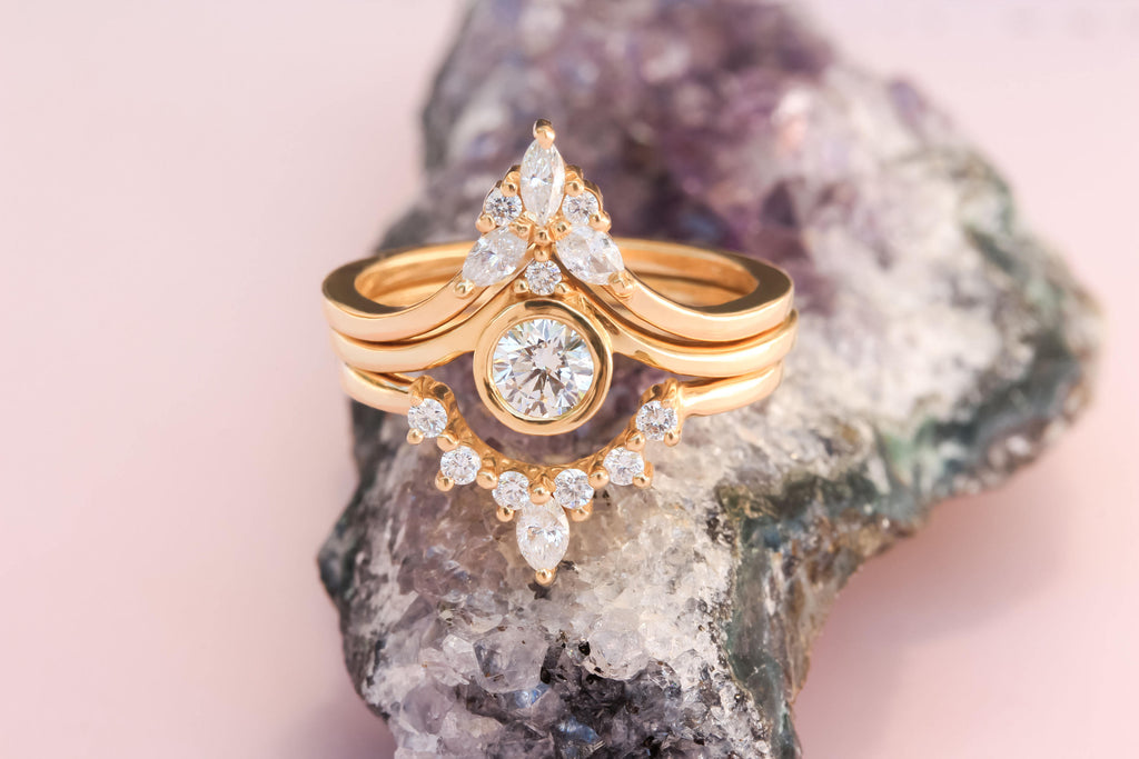 Bindi, Romi & Cupid, Three Unique Engagement Rings Set