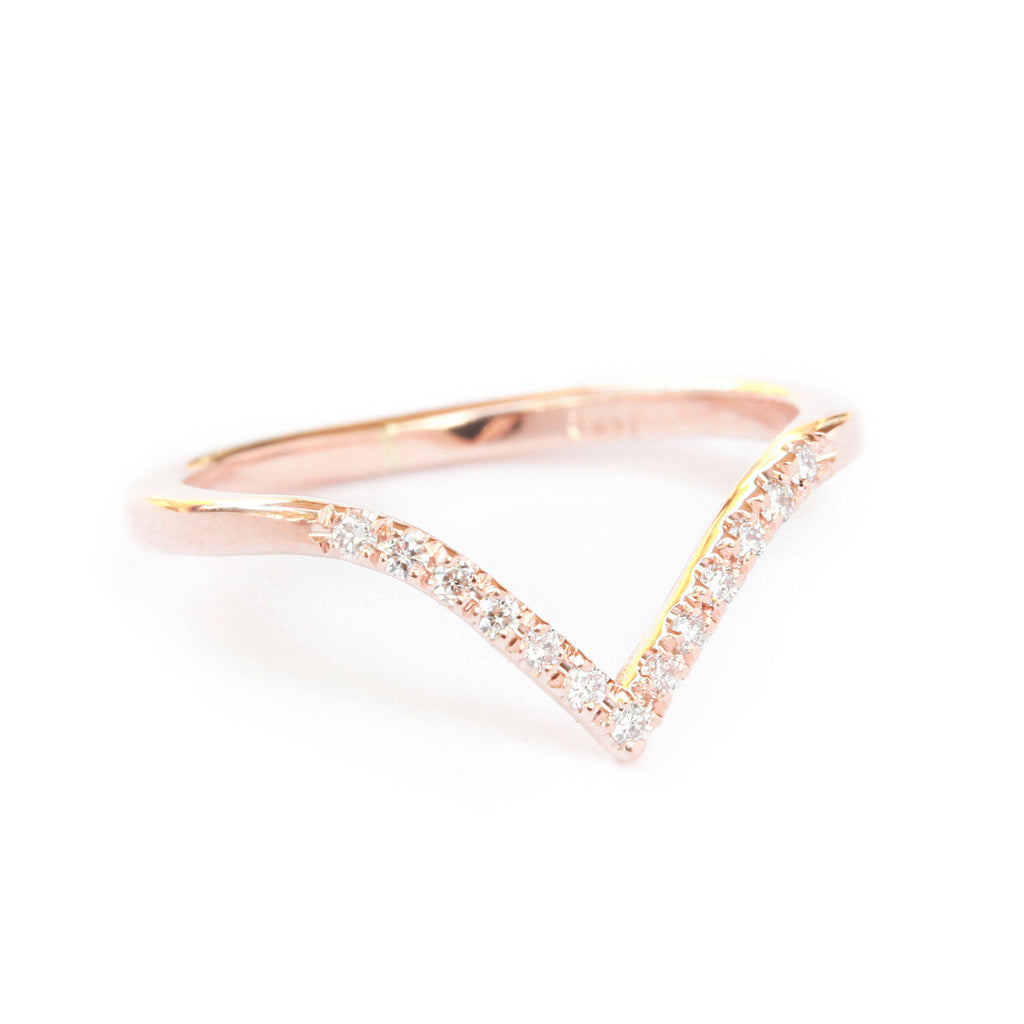 Deep Chevron V Diamond Ring - sillyshinydiamonds