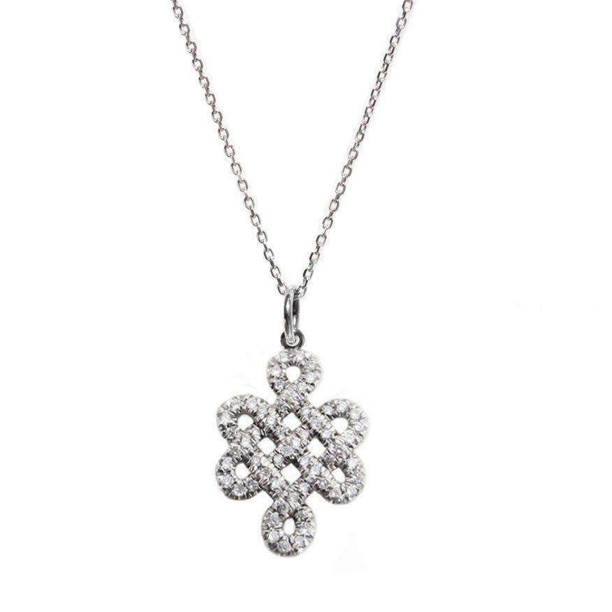 Endless Love Knot Diamond Necklace - sillyshinydiamonds