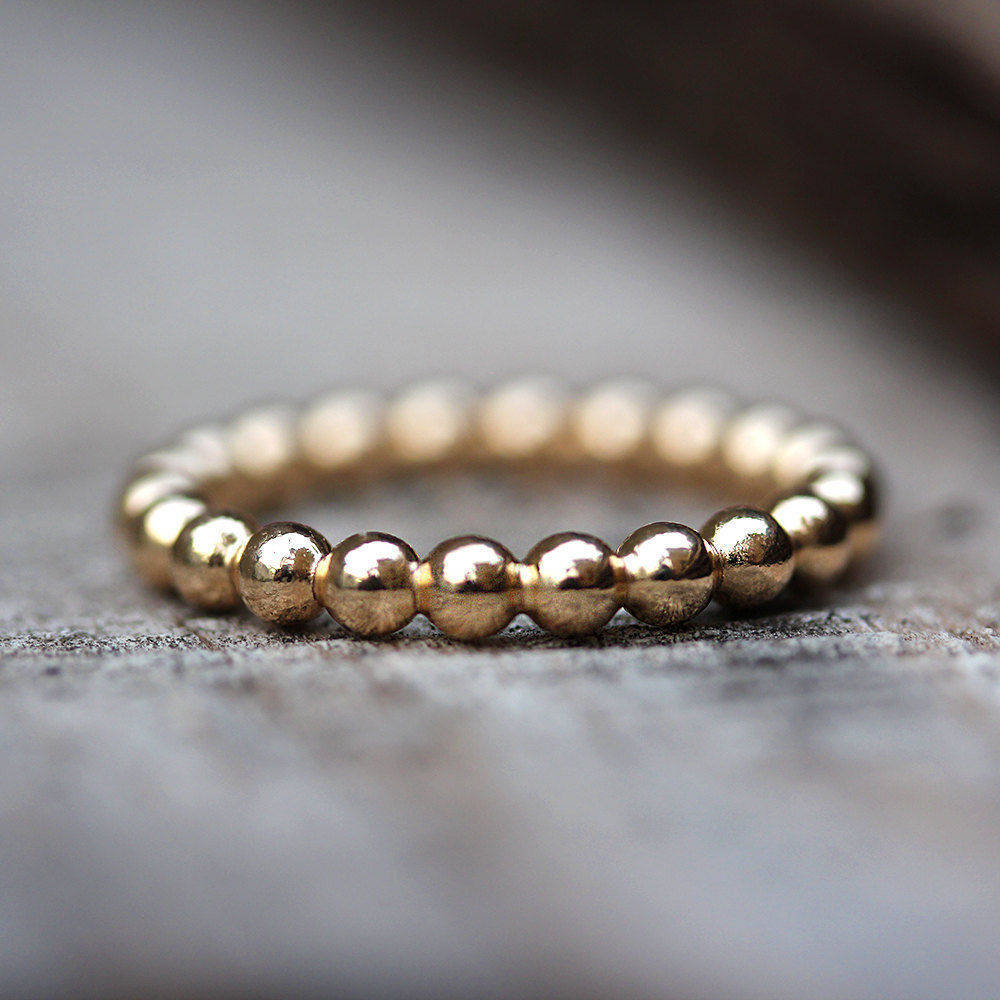 Gold Bubbles Wedding Band