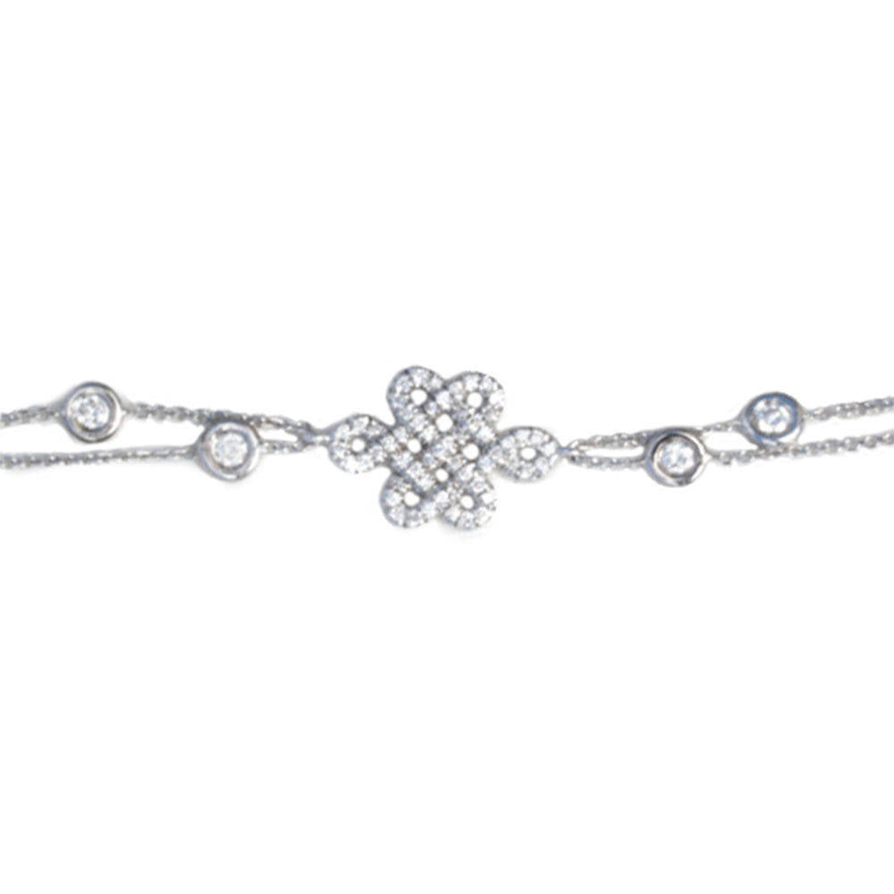 Endless Love Knot, Diamonds by the yard chain Charm Bracelet - sillyshinydiamonds