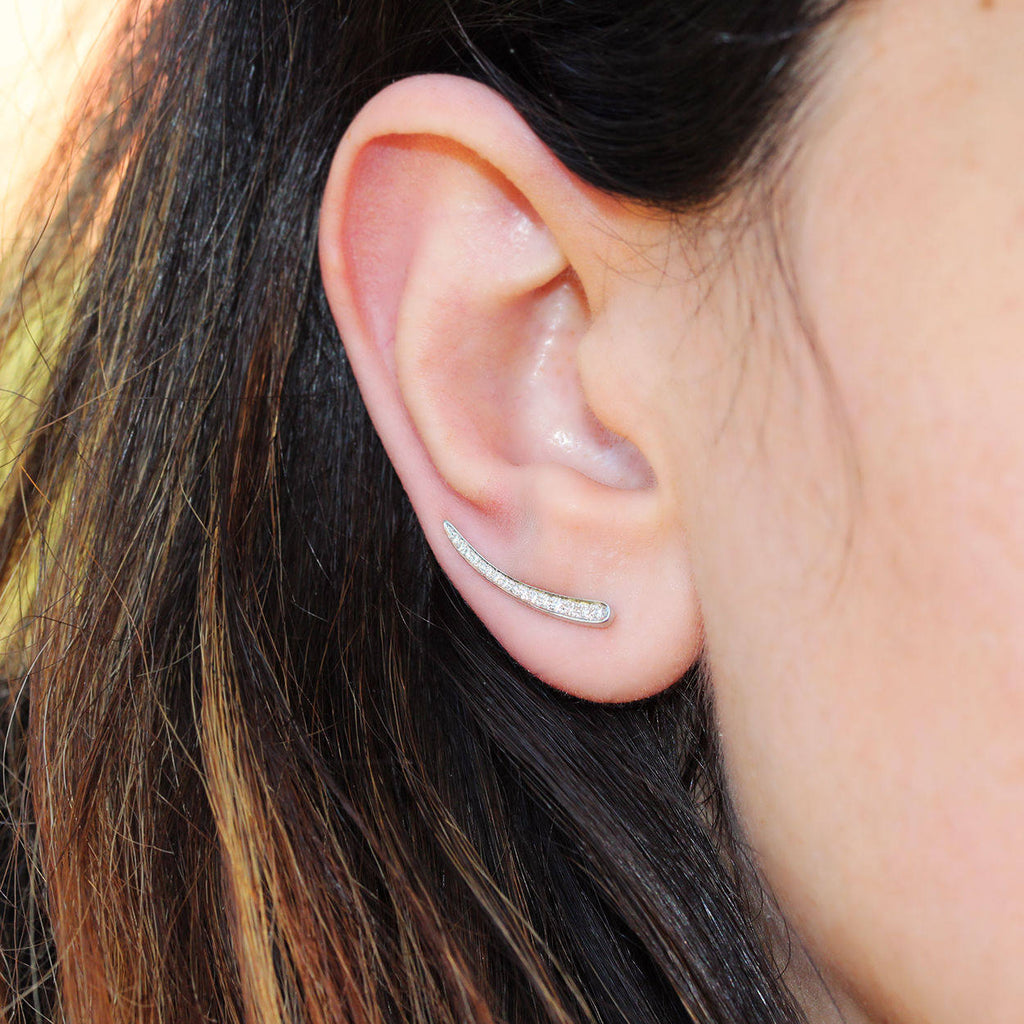 Diamond Ear Climber - sillyshinydiamonds