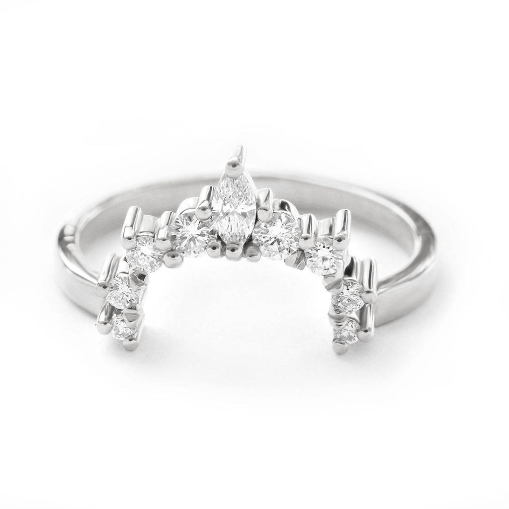Nesting Crown Diamond Wedding Ring - Elati - sillyshinydiamonds