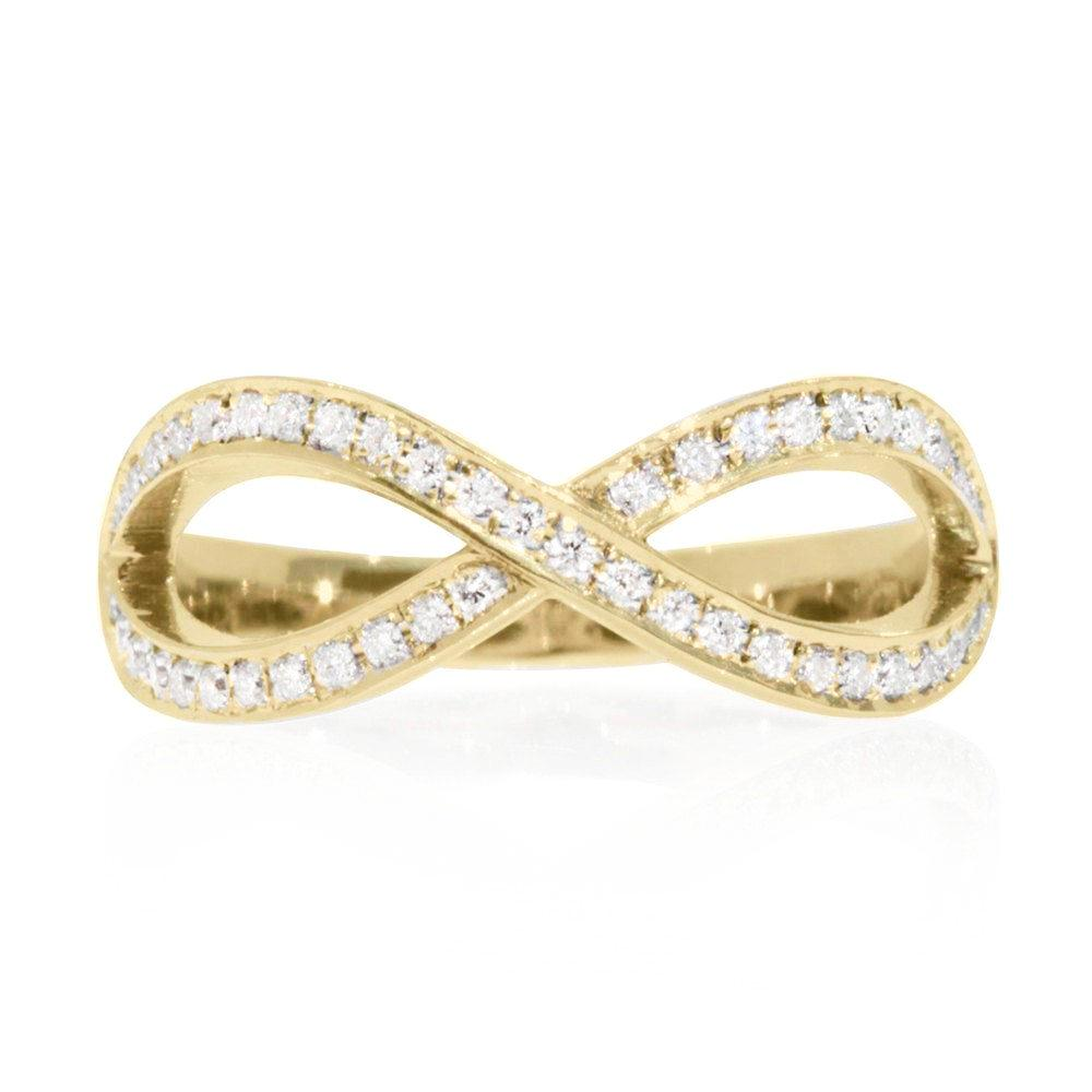 Infinity Symbol Diamond Unique Wedding Ring