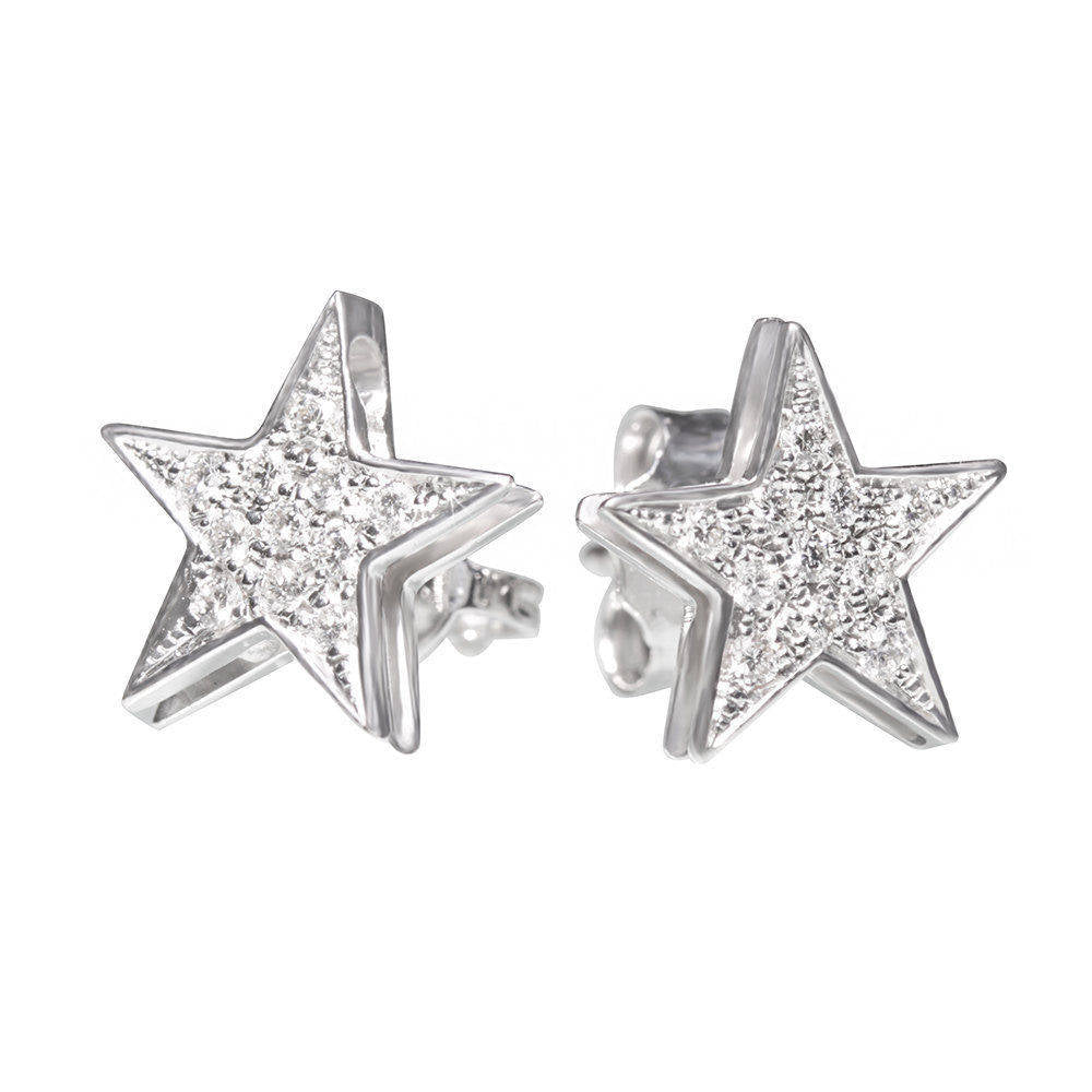 Star Studs Diamond Earrings