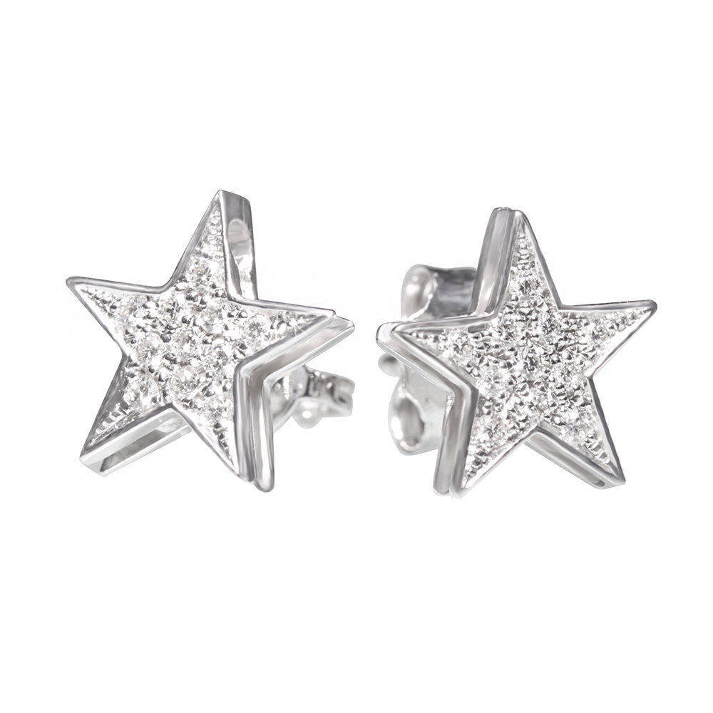 Star Studs Diamond Earrings - sillyshinydiamonds