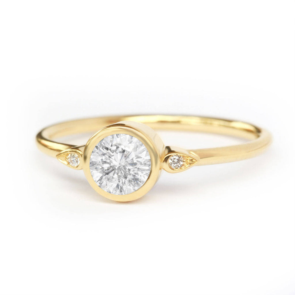 Kiss Plus, Solitaire Diamond Engagement Ring - sillyshinydiamonds