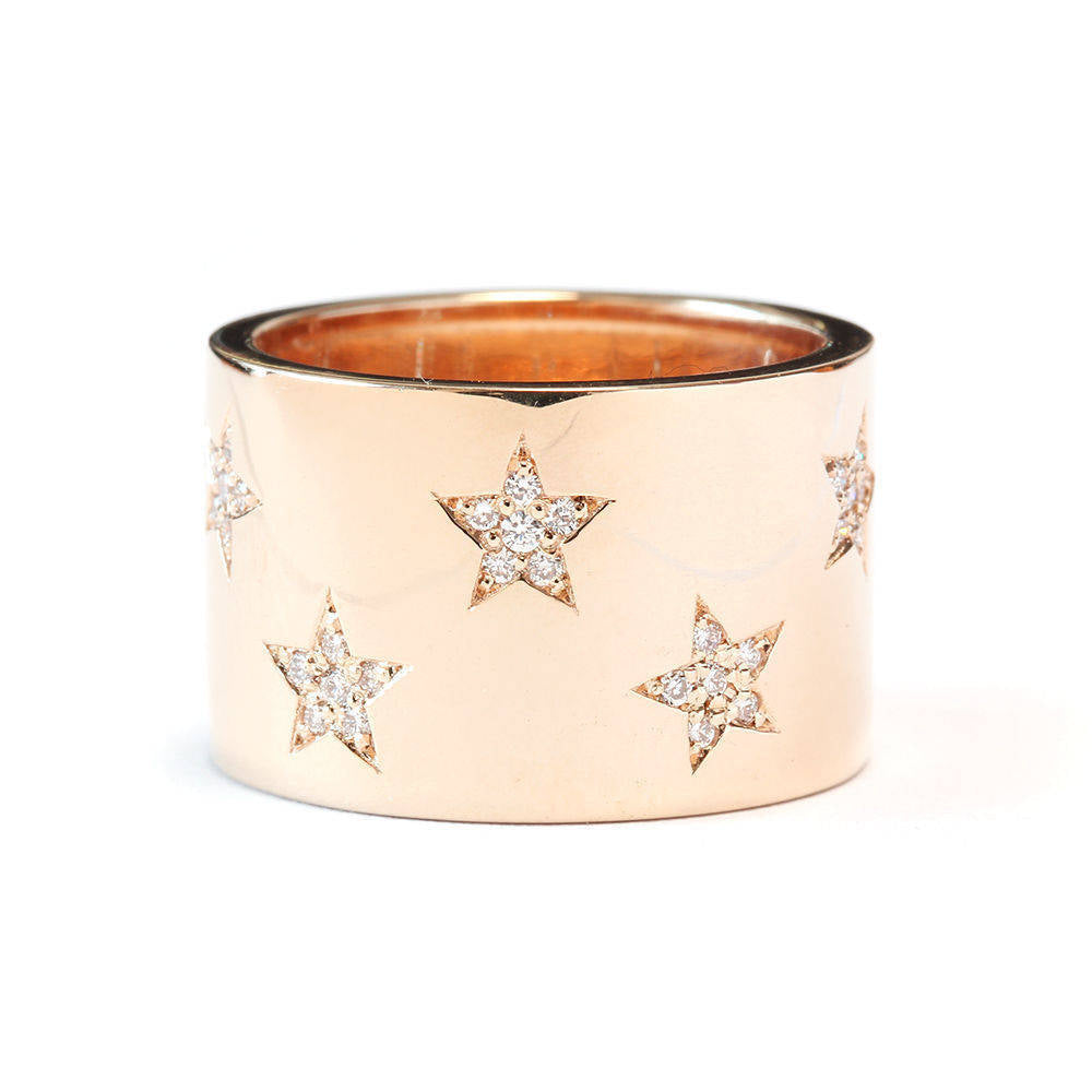 Star Diamond Statement Ring