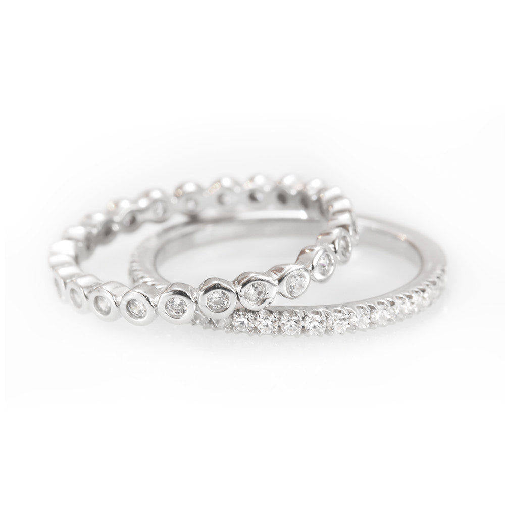 Eternity Diamond 2 Ring Stack - sillyshinydiamonds