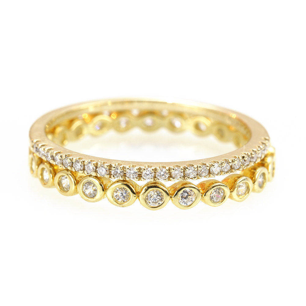 Eternity Diamond 2 Ring Stack