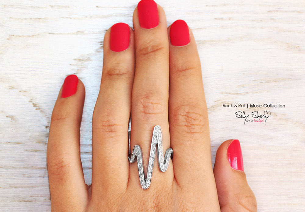 Wild Zig Zag Ring - Unique Diamond Ring - sillyshinydiamonds