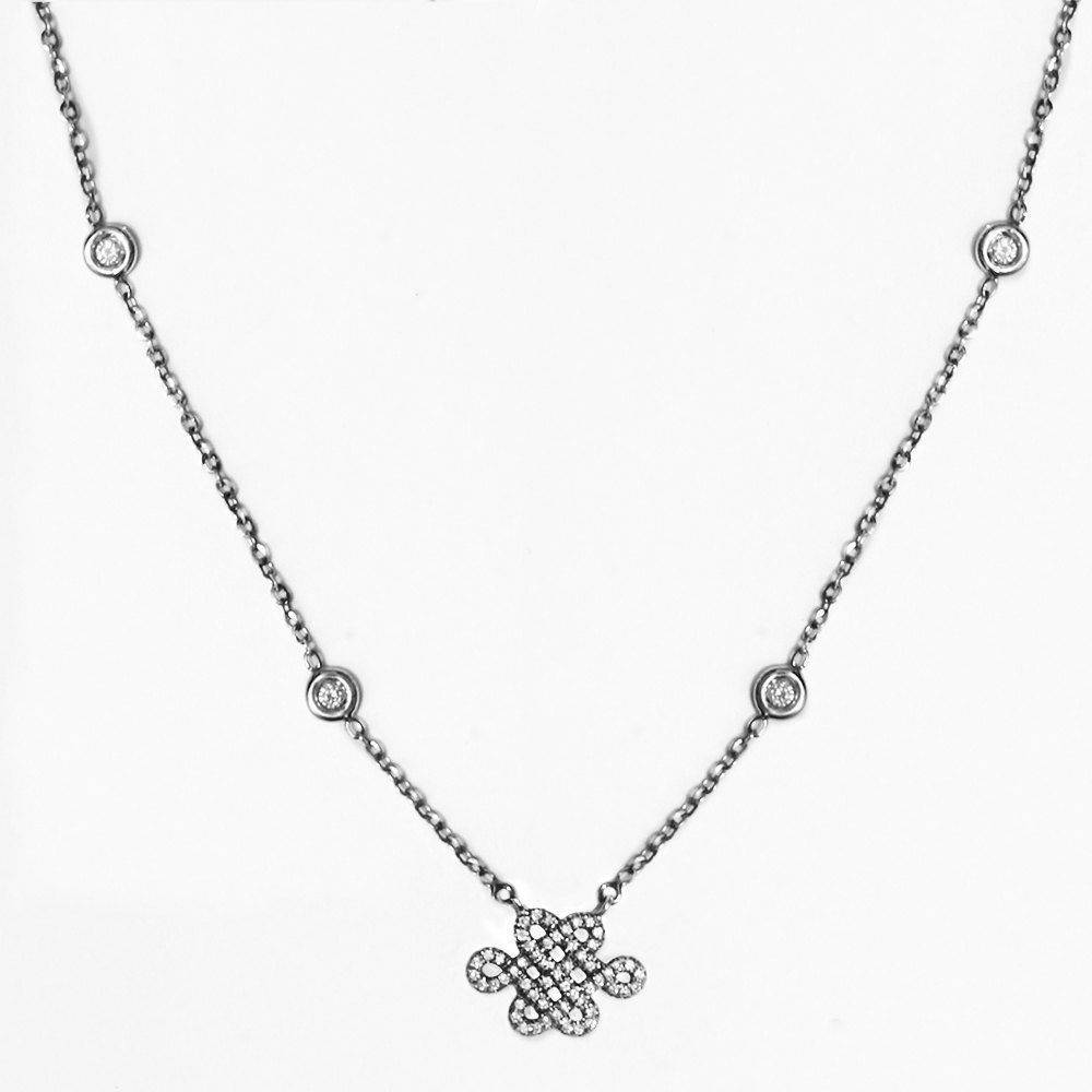 Tibetan Endless Love Knot Diamond by the yard Necklace - sillyshinydiamonds
