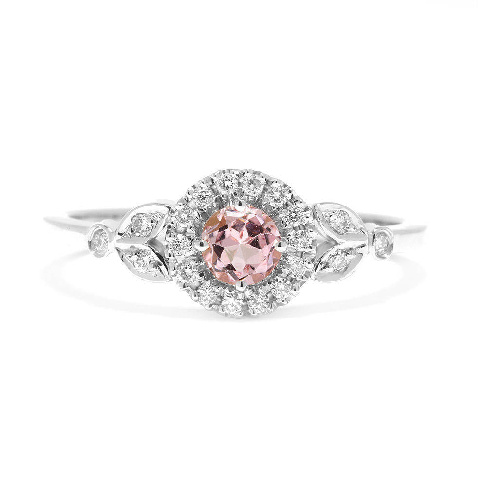 Rome Tourmaline & Diamonds Engagement Ring - sillyshinydiamonds