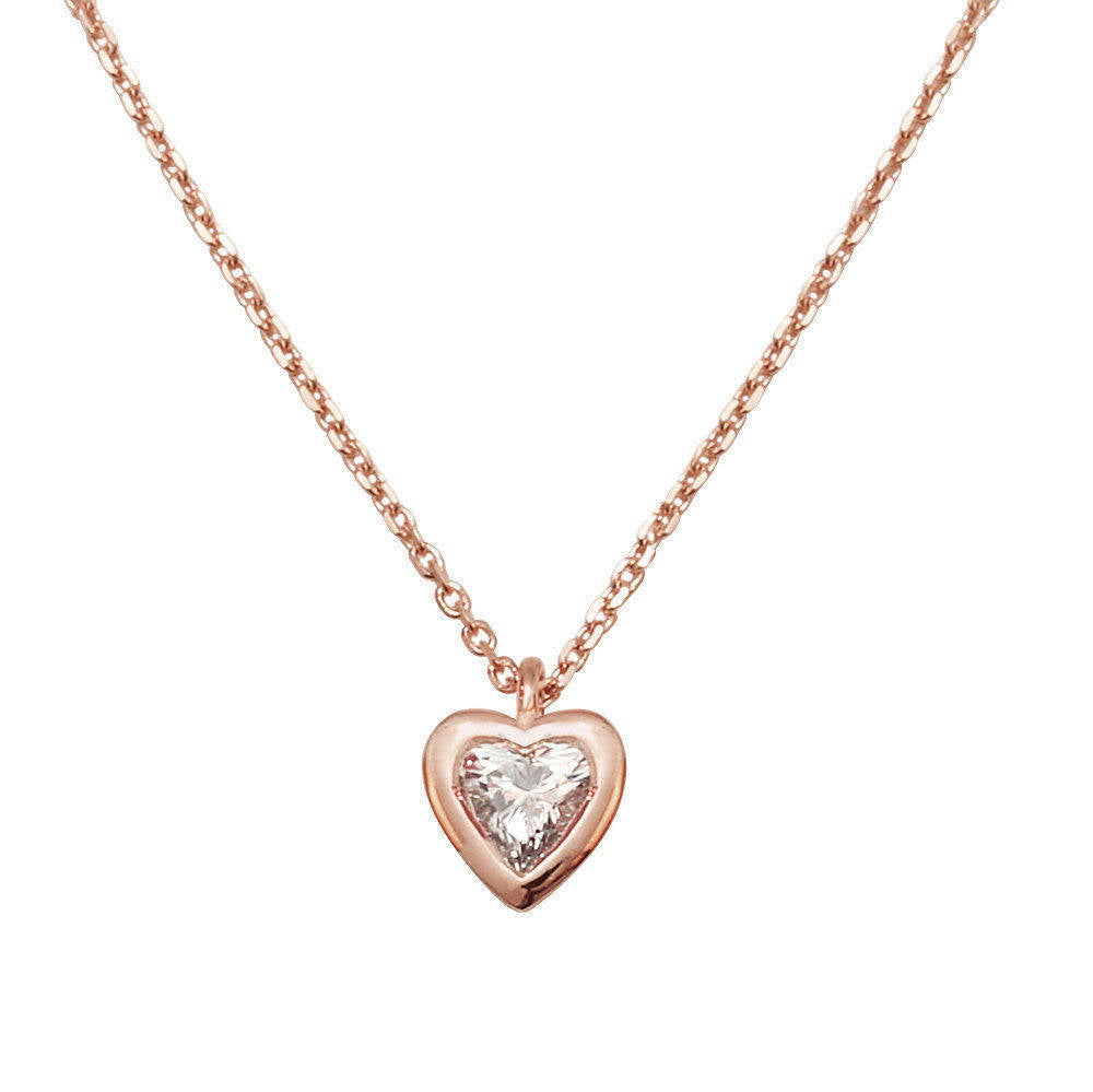 Heart Diamond Pendant Necklace - sillyshinydiamonds
