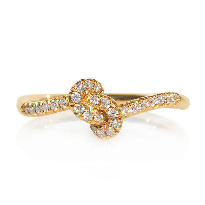 Forget Me Knot Diamond Ring - sillyshinydiamonds