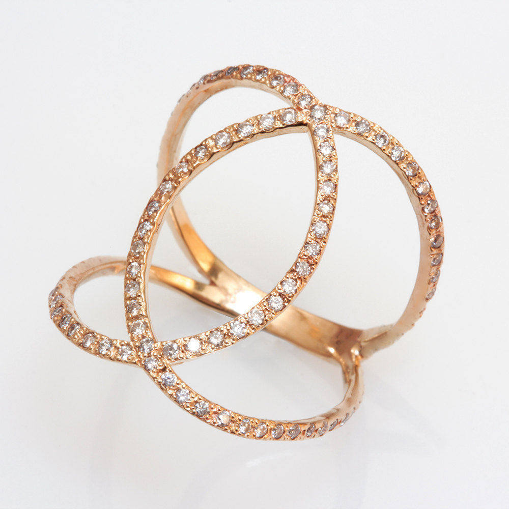 Loops Statement Dainty Diamond Ring - sillyshinydiamonds