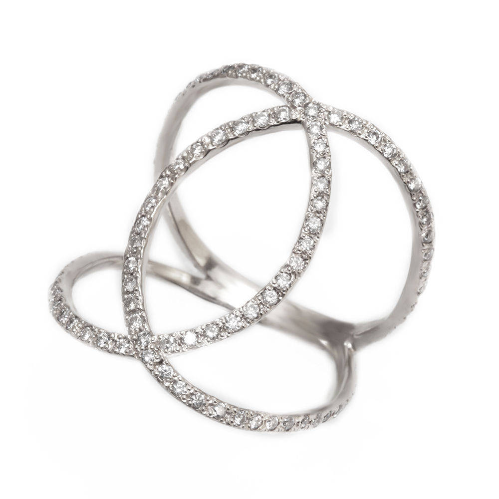 Loops Statement Dainty Diamond Ring