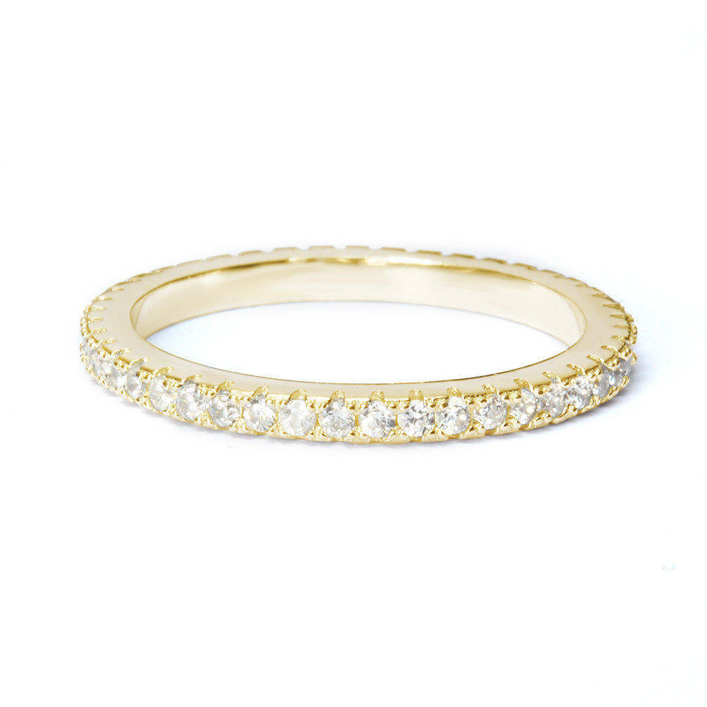 Full Eternity Diamond Wedding Band 2.5mm - sillyshinydiamonds