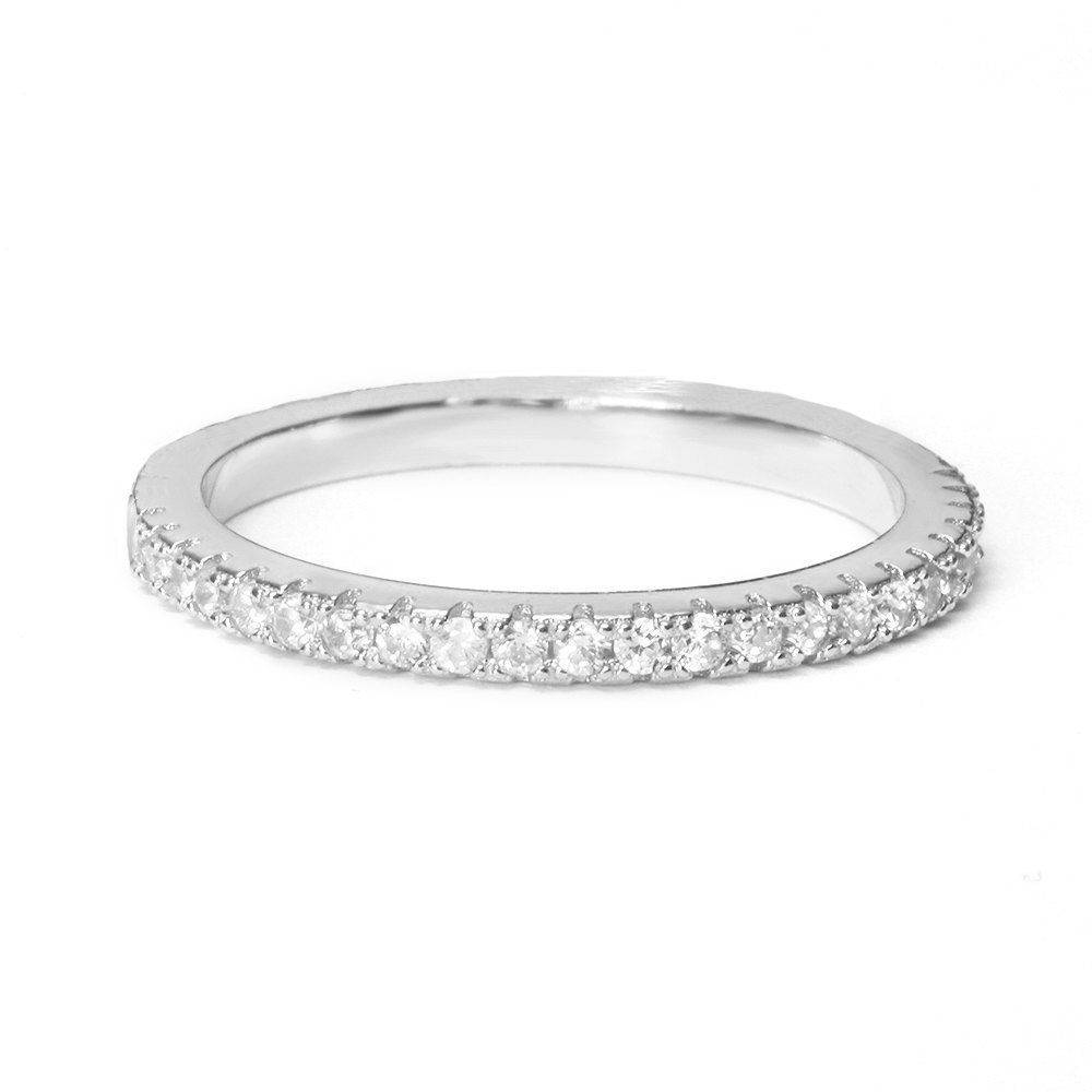 Half Eternity Diamond Wedding Band, 2.5mm - sillyshinydiamonds