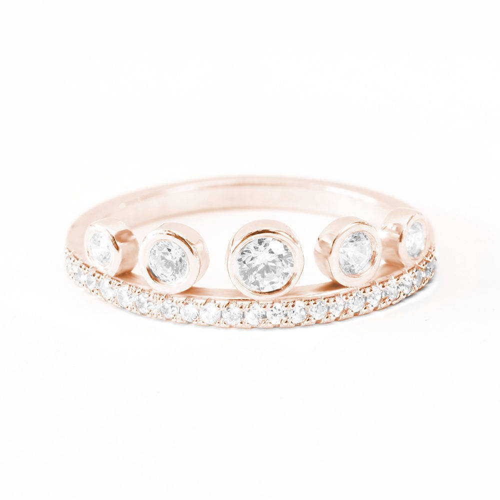 Tiara Unique Diamond Wedding Stacking Ring - sillyshinydiamonds