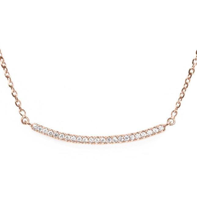 Curve Diamond Bar Necklace - sillyshinydiamonds
