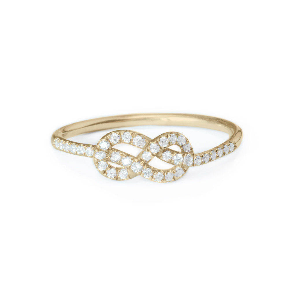 Mini Infinity Knot Diamond Ring - sillyshinydiamonds