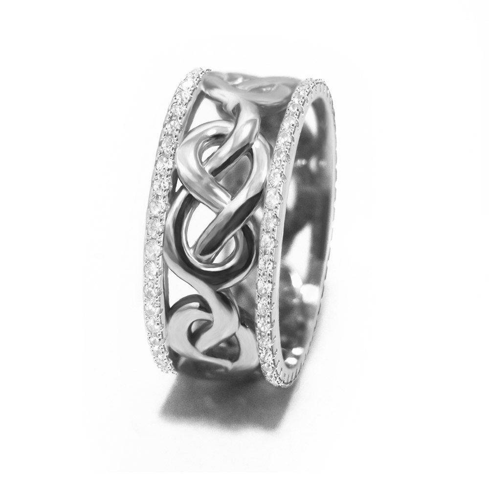 Celtic Infinity Knot Diamond Anniversary Ring - sillyshinydiamonds