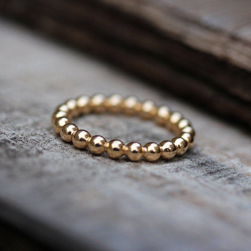 Gold Bubbles Wedding Band - sillyshinydiamonds