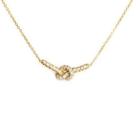 Forget Me Knot Diamond Necklace