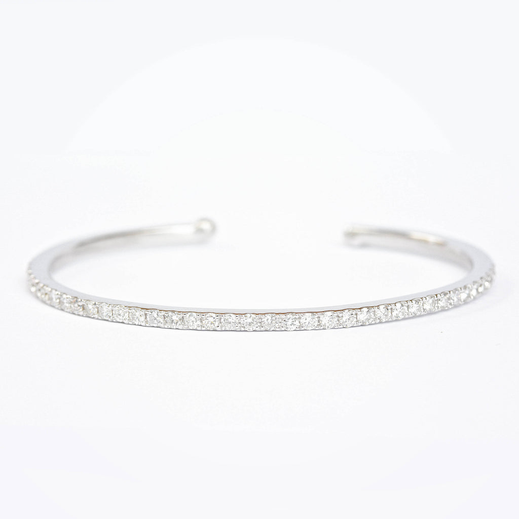Pave Diamonds Cuff Bangle 1.35ct - sillyshinydiamonds