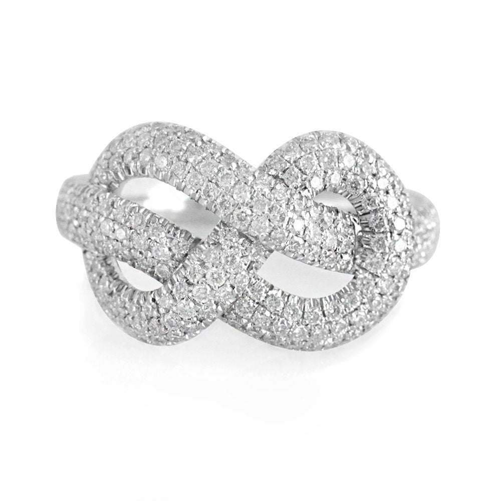 Anniversary statement Infinity Knot Diamond Ring,. - sillyshinydiamonds