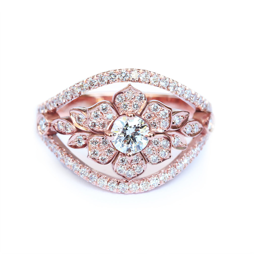 Lily Garden Unique Engagement Ring - sillyshinydiamonds