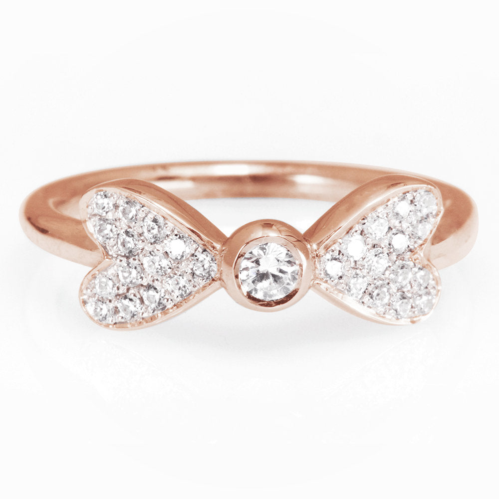 Hearts Diamond Ring, Unique Dainty  Diamond Ring - sillyshinydiamonds