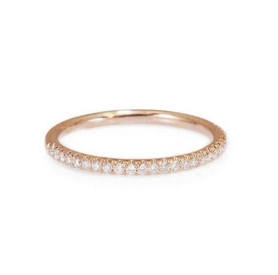 Full Eternity Diamond Wedding Band, Stacking diamond ring, Yellow Gold, Size 6.5 - sillyshinydiamonds