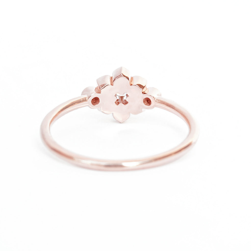 Lily Flower Mini Diamond Ring - sillyshinydiamonds