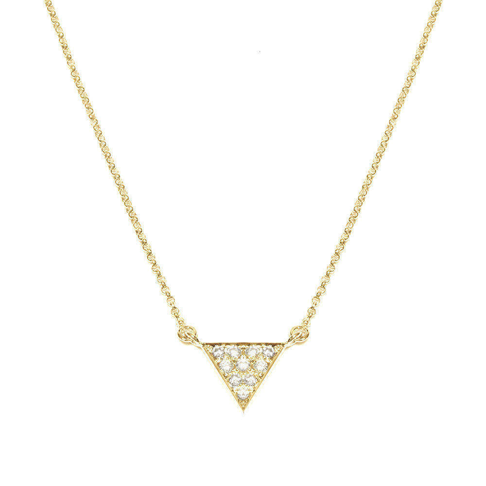 Triangle Diamond Pendant Necklace - sillyshinydiamonds